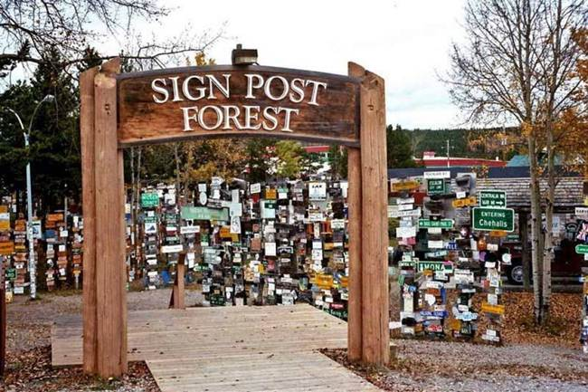 Sign-Post-Forest-of-Watson-Lake-Canada-Gudsol-011