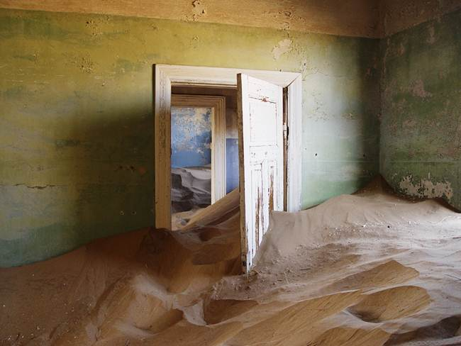 The ghost town of the desert, Colmanskop, in southern Namibia