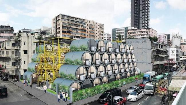 Micro-apartments in concrete pipes as an innovative solution to housing problems