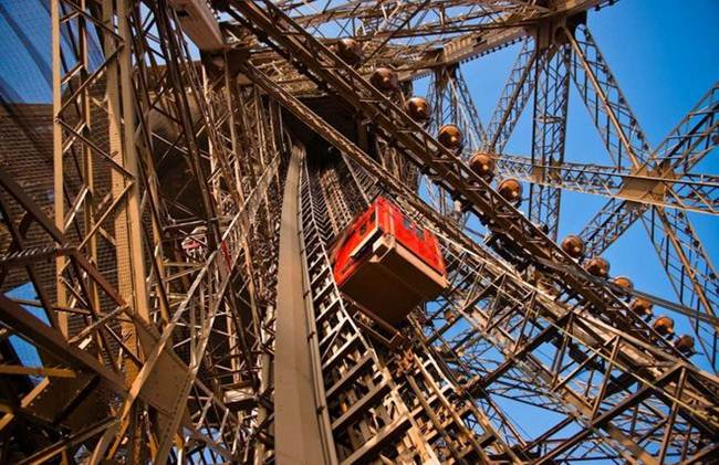 Elevator on the Eiffel Tower