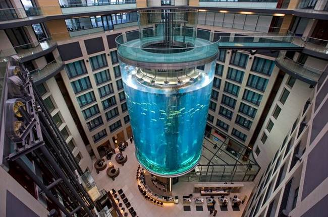 Elevator in aquarium AquaDom, Germany