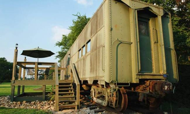 1942 army train car used in WWII gains a new life as a beautiful tiny home