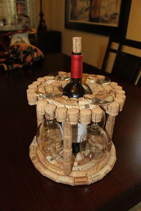 Wine cork crafts and Wine cork table