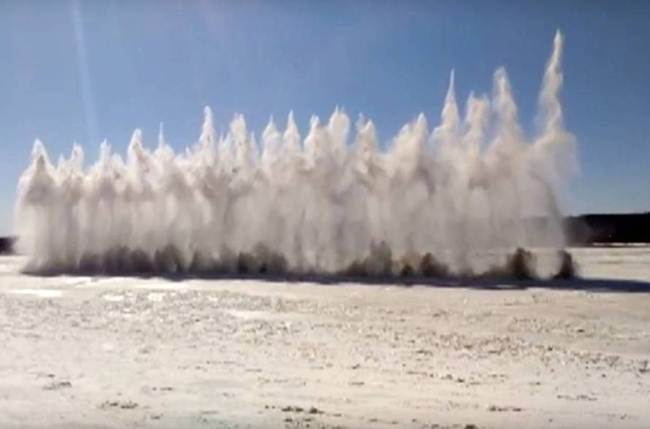 Ice explosion Russia