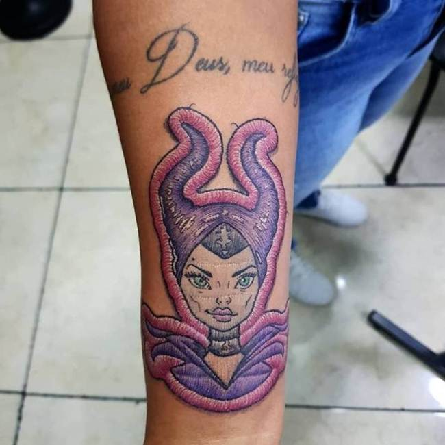 Skin Stitch Tattoos: The Combination Of Two Needle Art On