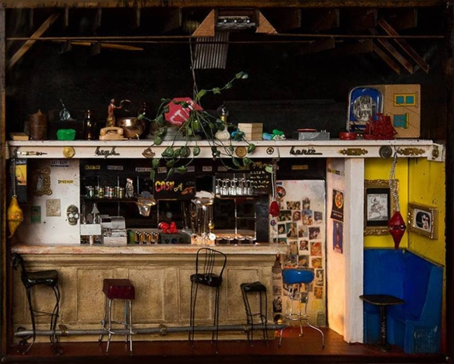 Amazing miniature bar by Michael Long